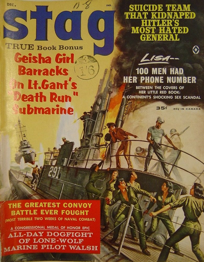 STAG. DEC. 1962. PULP MAGAZINE.