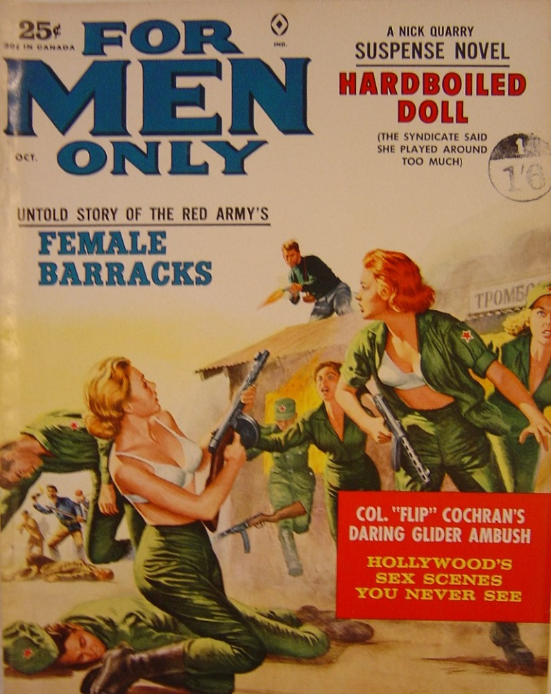 FOR MEN ONLY. OCT. 1962. PULP MAGAZINE.