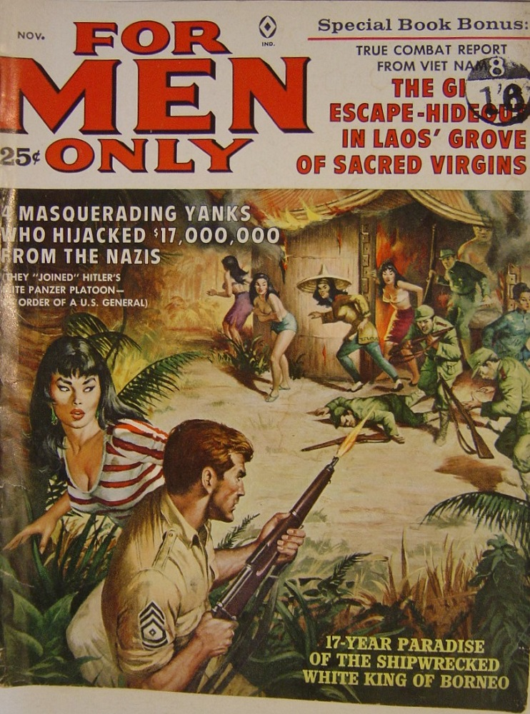 FOR MEN ONLY. NOV. 1961. PULP MAGAZINE.