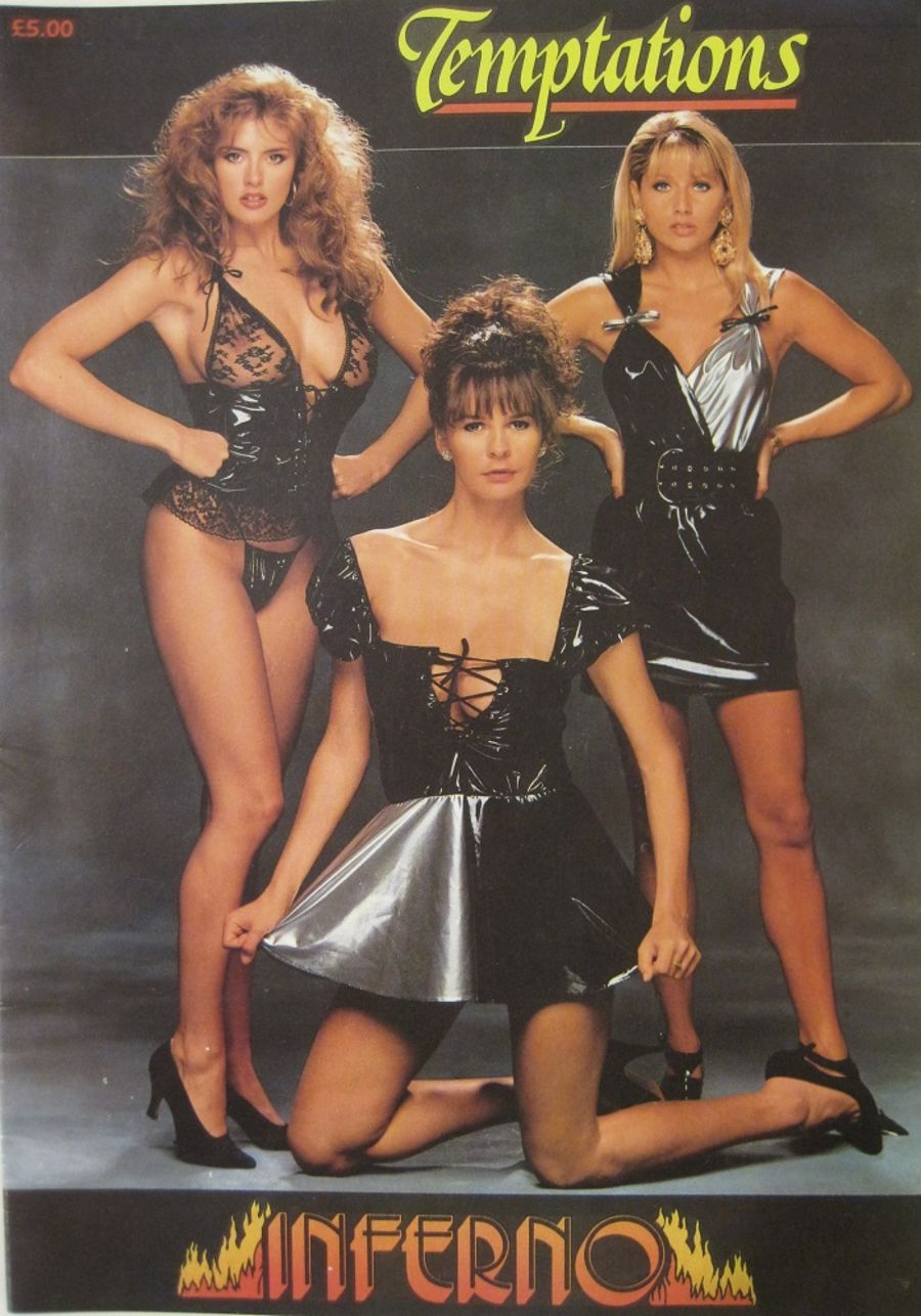 INFERNO BY TEMPTATIONS. VINTAGE LINGERIE CATALOGUE.