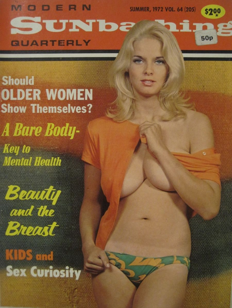 MODERN SUNBATHING. SUMMER 1972. VINTAGE MEN'S MAGAZINE.