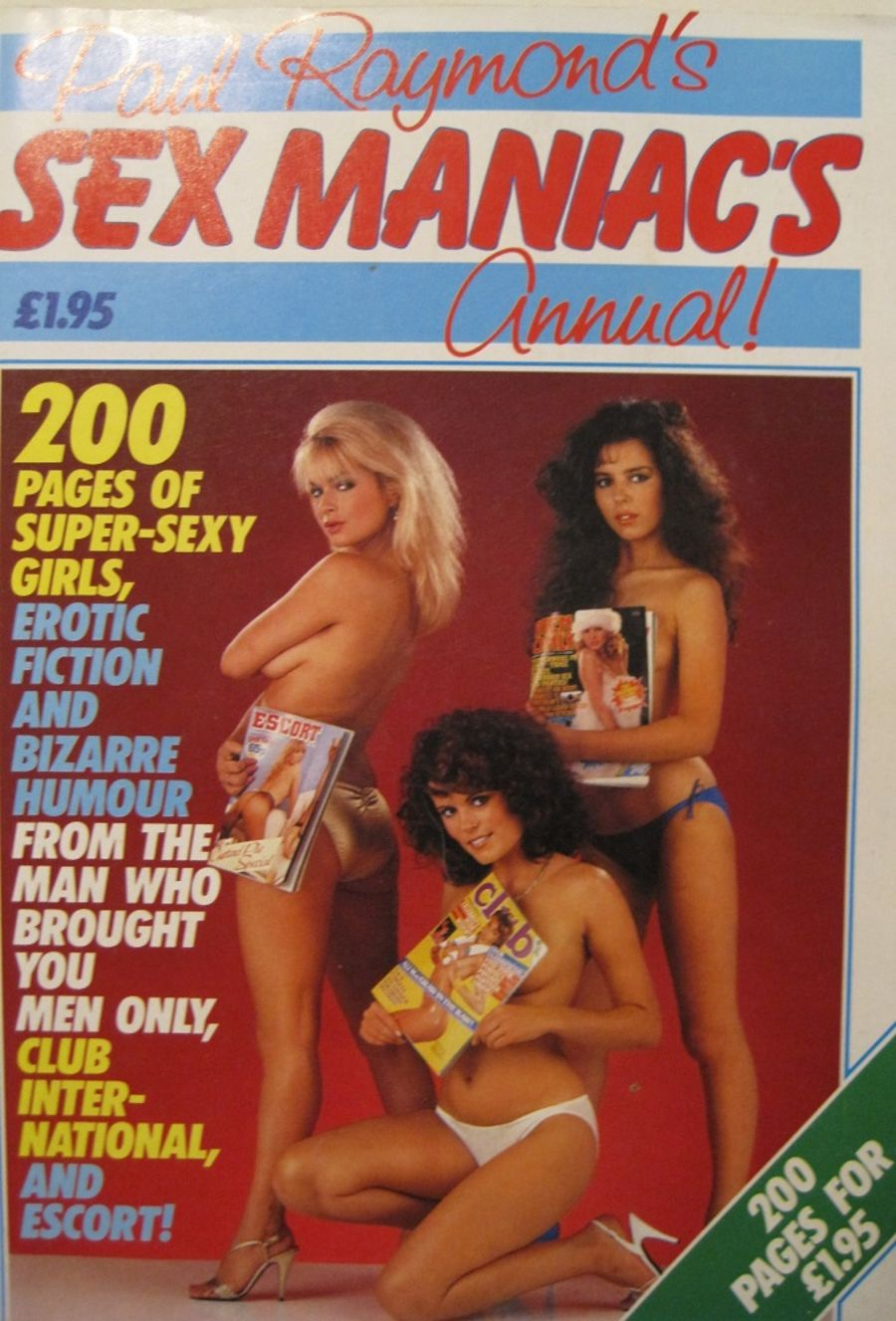 SEX MANIAC'S ANNUAL. 1982 VINTAGE MEN'S MAGAZINE.