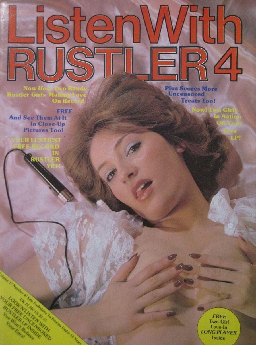 LISTEN WITH RUSTLER. VOL. 1 NO. 4. MEN'S ADULT MAGAZINE.