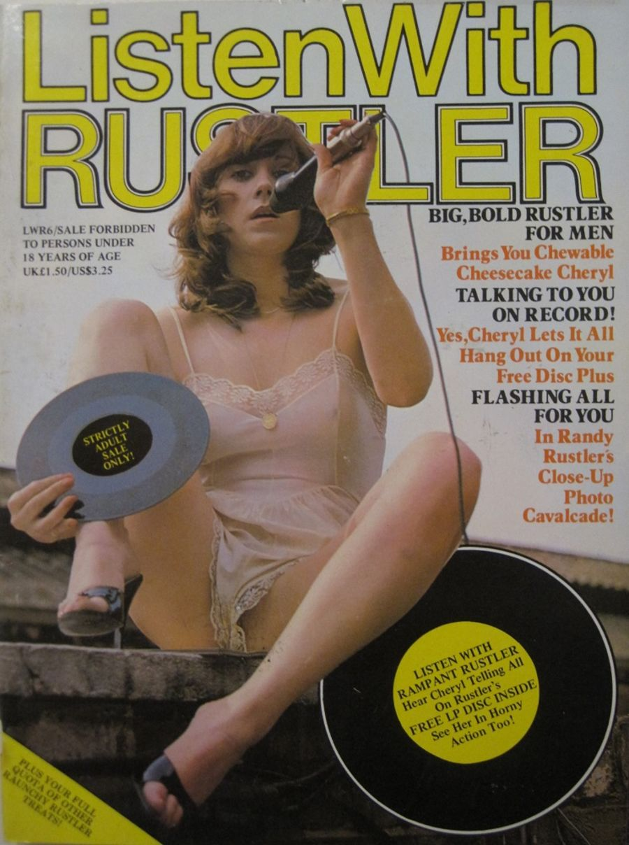 LISTEN WITH RUSTLER. NO. 6. MEN'S ADULT MAGAZINE.