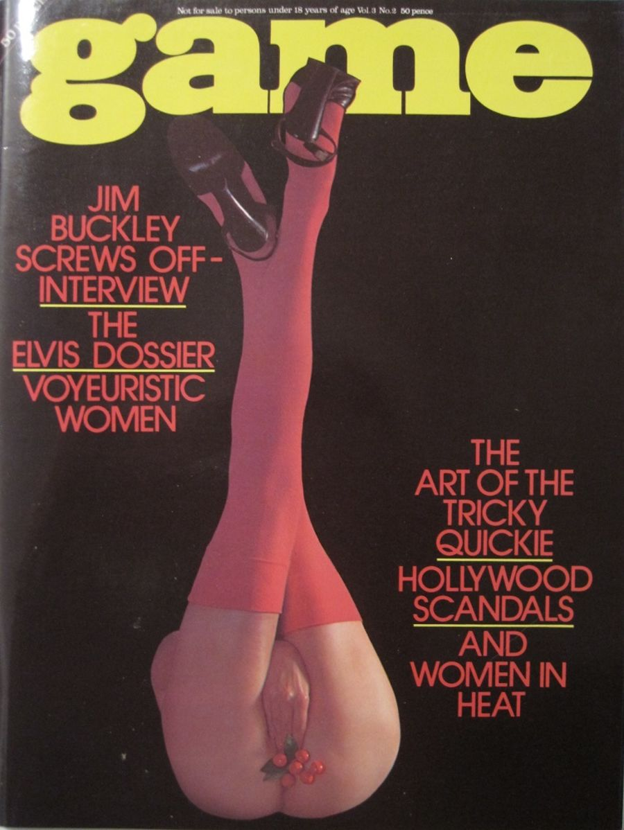 GAME. VOL. 3 NO. 2. 1976 VINTAGE MEN'S MAGAZINE.