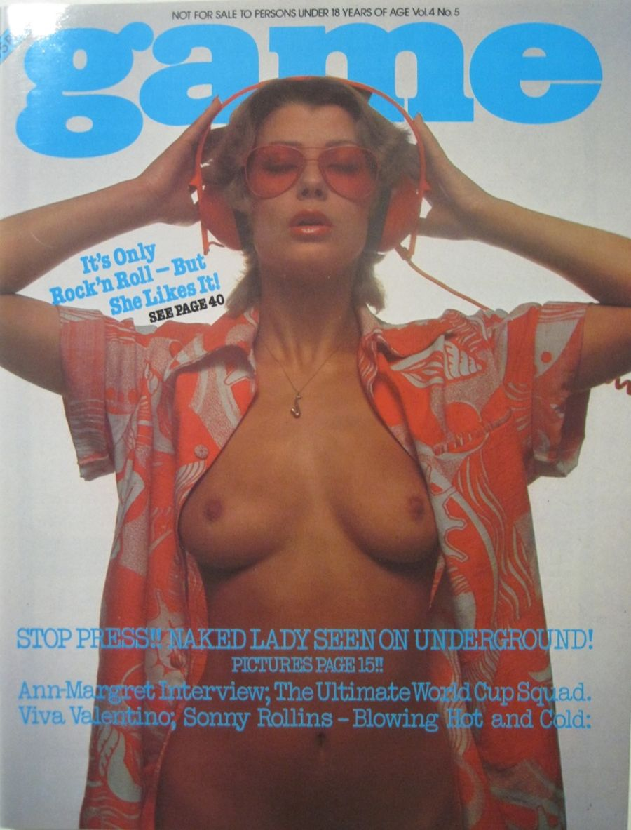 GAME. VOL. 4 NO. 5. 1977 VINTAGE MEN'S MAGAZINE.