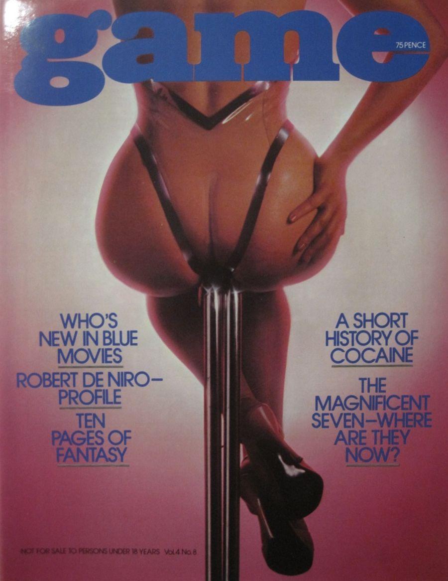 GAME. VOL. 4 NO. 8. 1977 VINTAGE MEN'S MAGAZINE.
