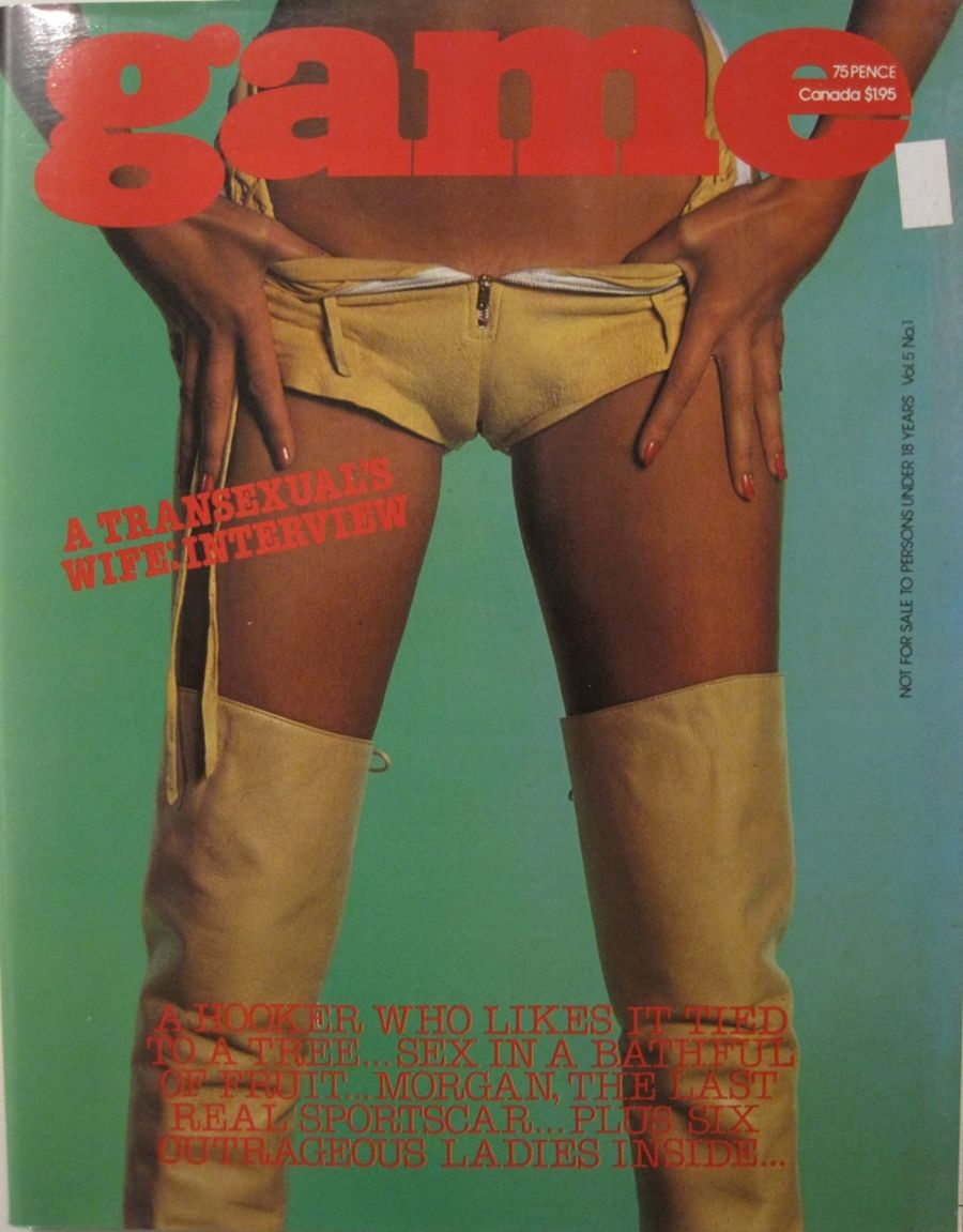 GAME. VOL. 5 NO. 1. 1978 VINTAGE MEN'S MAGAZINE.