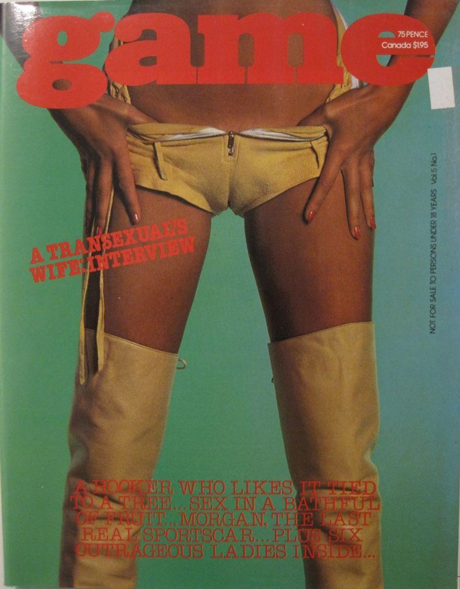 GAME. VOL. 5 NO. 1. 1978 VINTAGE MEN'S MAGAZINE.
