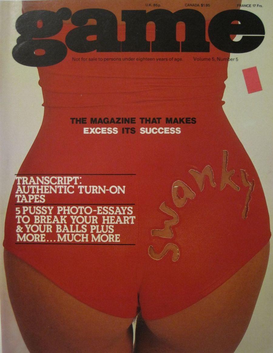 GAME. VOL. 5 NO. 5. 1978 VINTAGE MEN'S MAGAZINE.