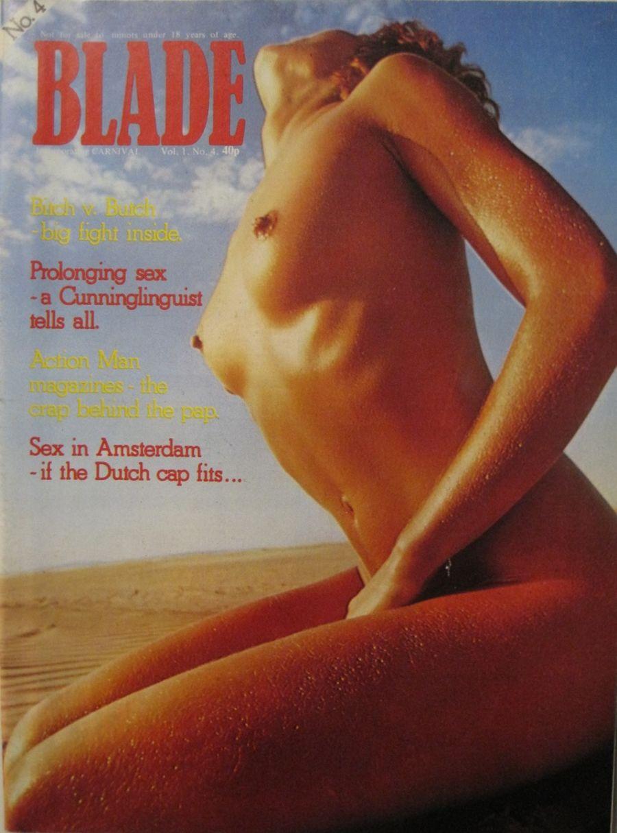 BLADE. VOL. 1 NO. 4. 1976 VINTAGE MEN'S MAGAZINE.