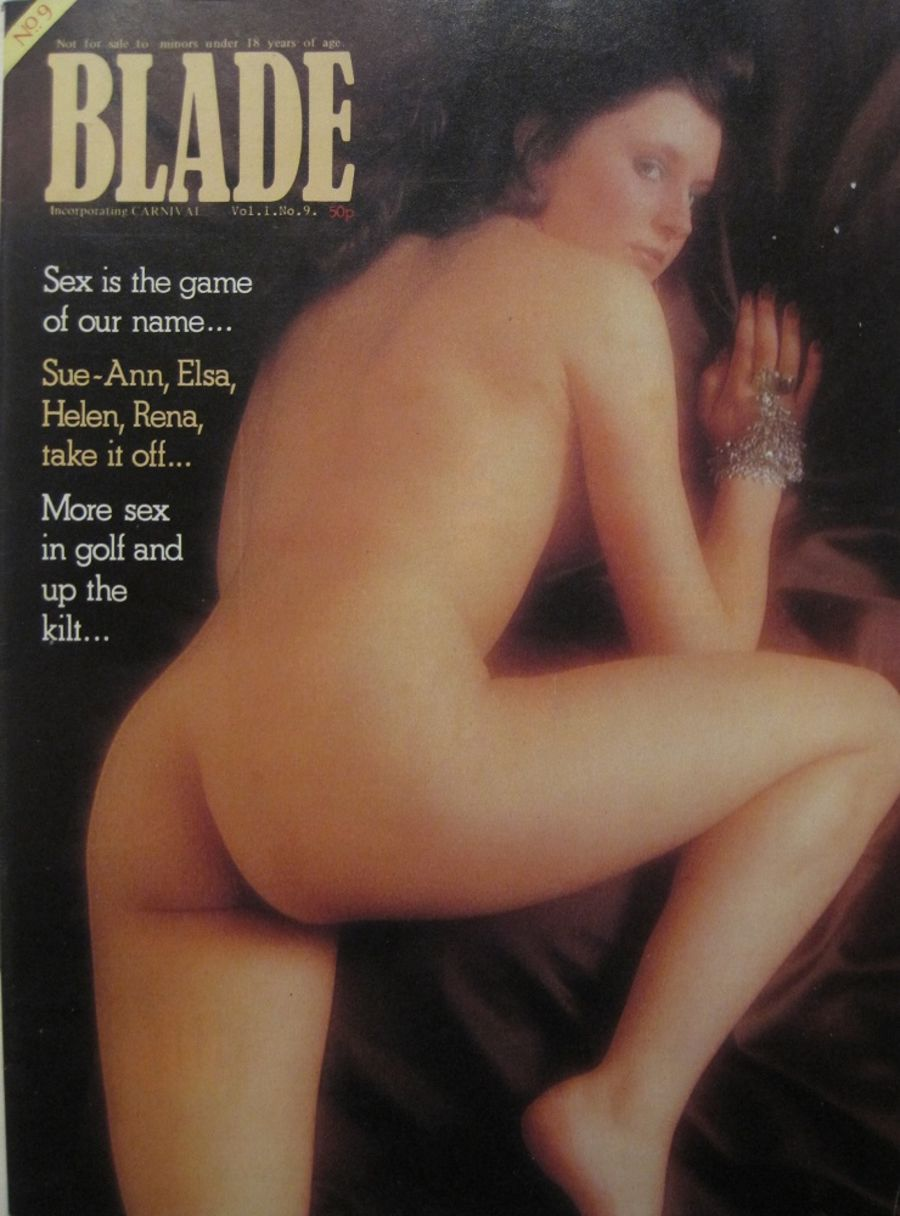 BLADE. VOL. 1 NO. 9. 1976 VINTAGE MEN'S MAGAZINE.