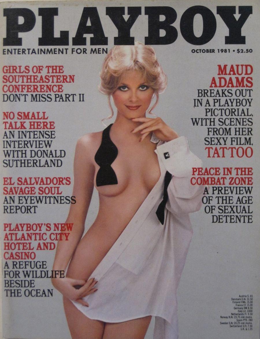 PLAYBOY. OCT. 1981. VINTAGE MEN'S MAGAZINE.