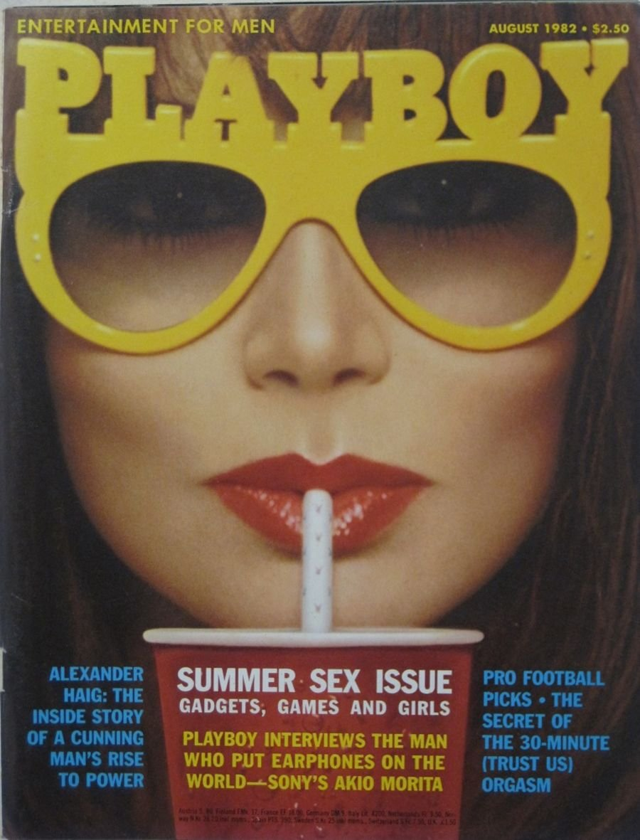PLAYBOY. AUG. 1982. VINTAGE MEN'S MAGAZINE.