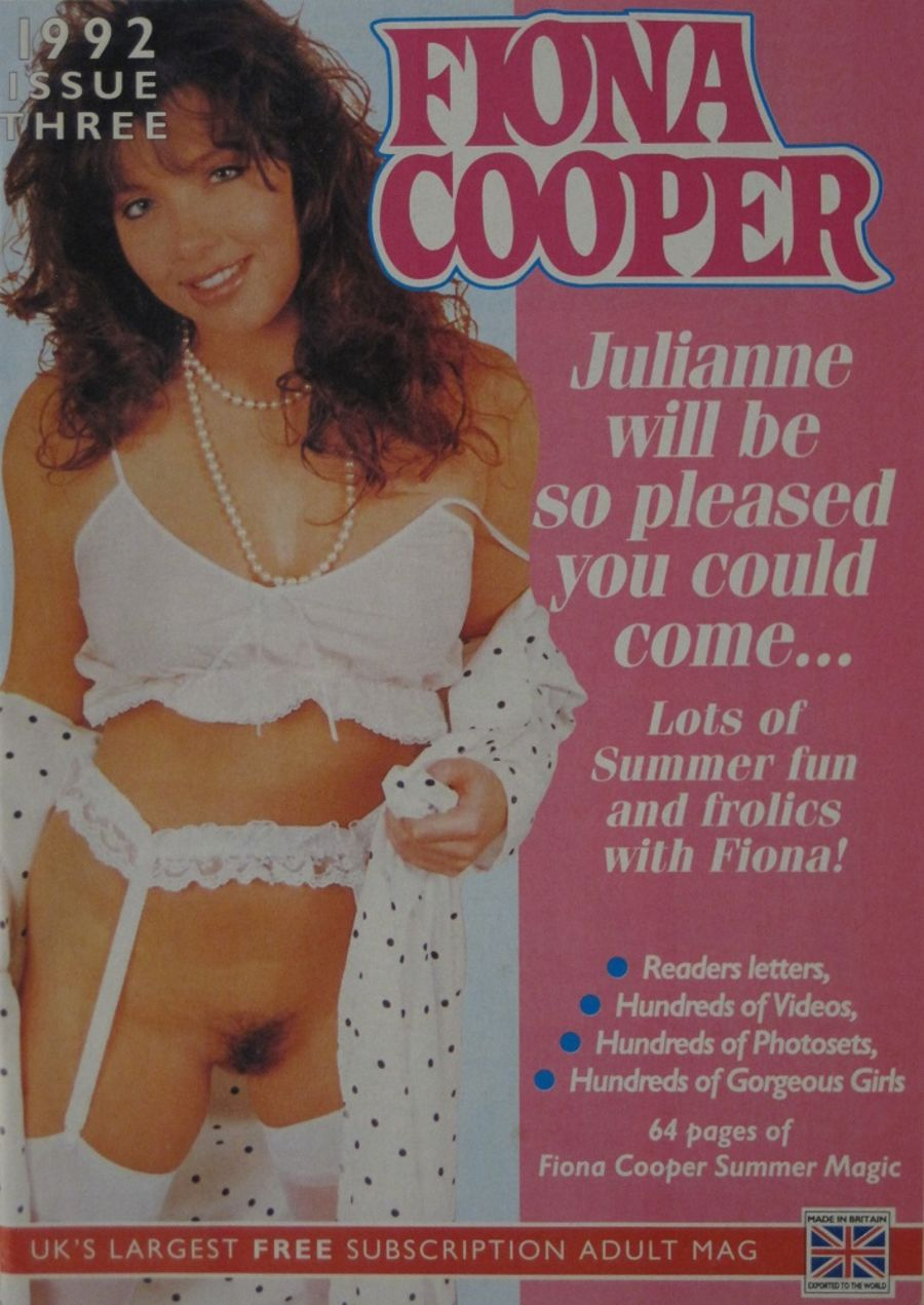 FIONA COOPER. 1992 NUMBER 3.  VINTAGE ADULT CATALOGUE..