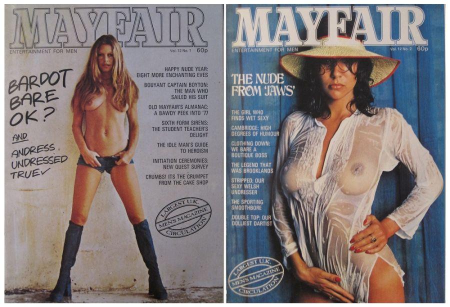 MAYFAIR. VOL. 12 NO'S 1 TO 12 IN ORIGINAL BINDER. 1977 VINTAGE MEN'S MAGAZINES.