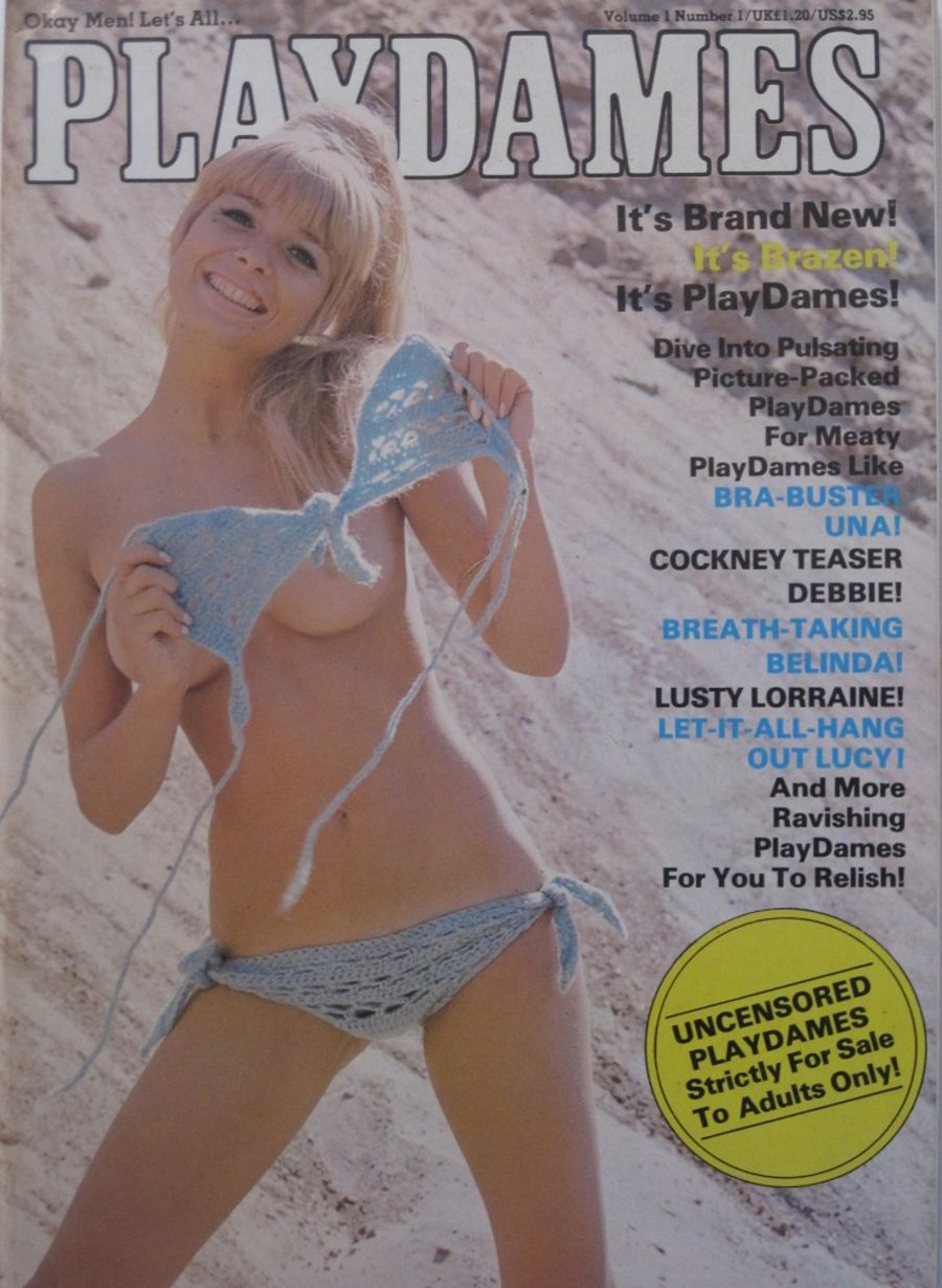 PLAYDAMES. VOL. 1 NO. 1. 1980 VINTAGE MEN'S MAGAZINE.