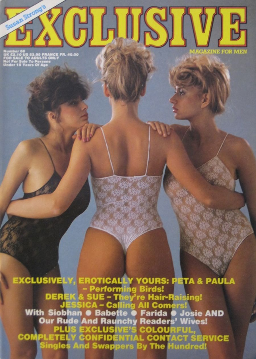 EXCLUSIVE. NO. 68. 1986 VINTAGE MEN'S MAGAZINE.