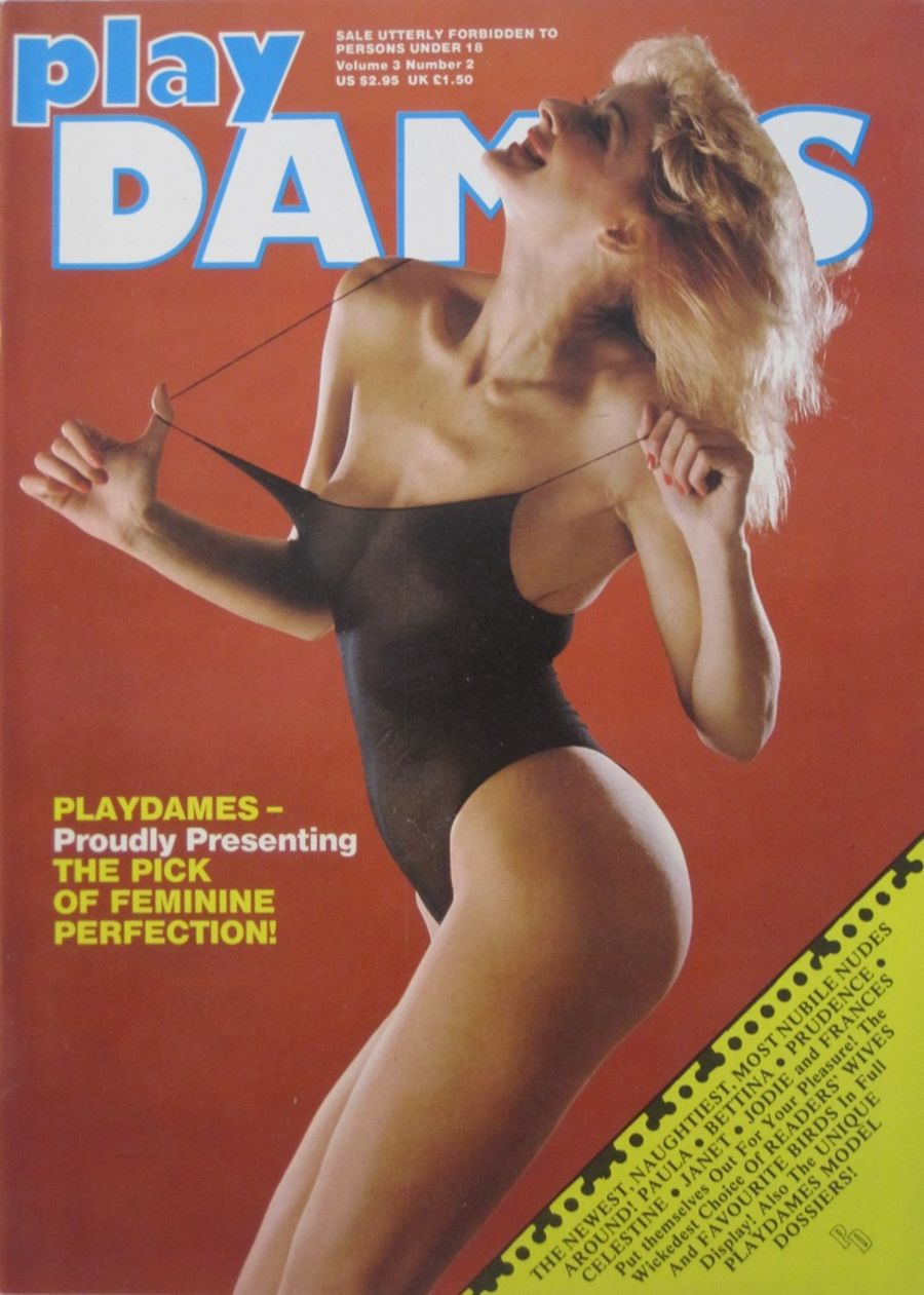 PLAYDAMES. VOL. 3 NO. 2. 1982 VINTAGE MEN'S MAGAZINE.