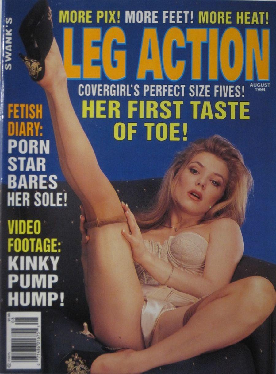LEG ACTION. AUG. 1994. VINTAGE MEN'S MAGAZINE.