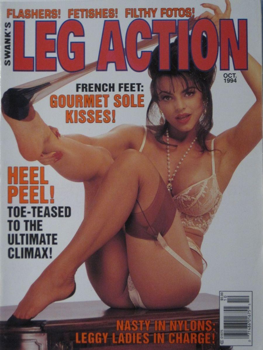 LEG ACTION. OCT. 1994.VINTAGE MEN'S MAGAZINE.