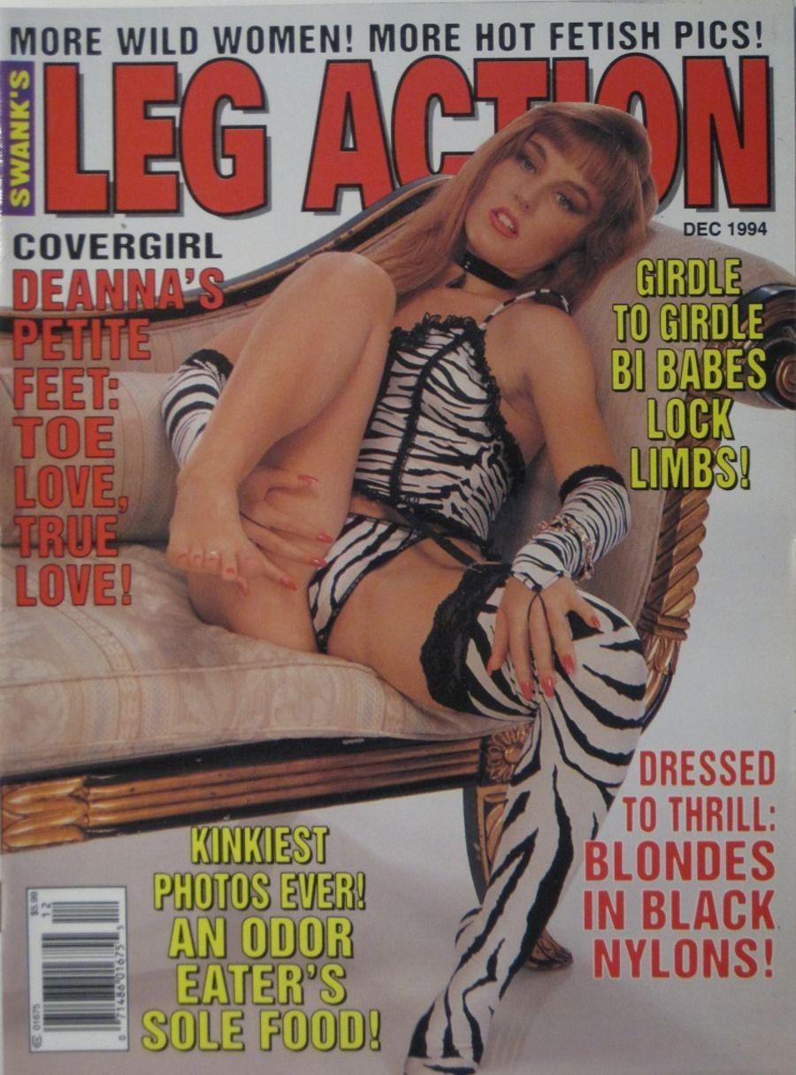 LEG ACTION. DEC. 1994. VINTAGE MEN'S MAGAZINE.