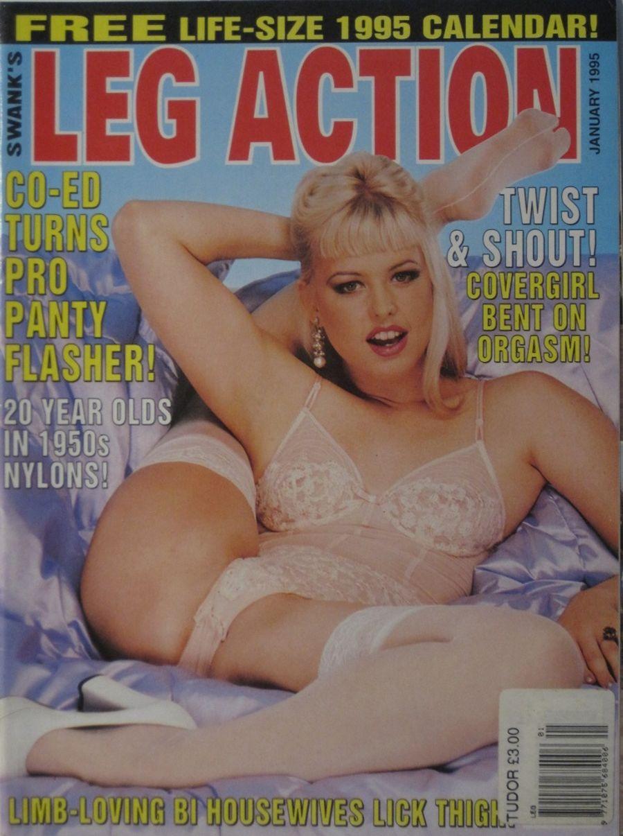 LEG ACTION. JAN. 1995. VINTAGE MEN'S MAGAZINE.