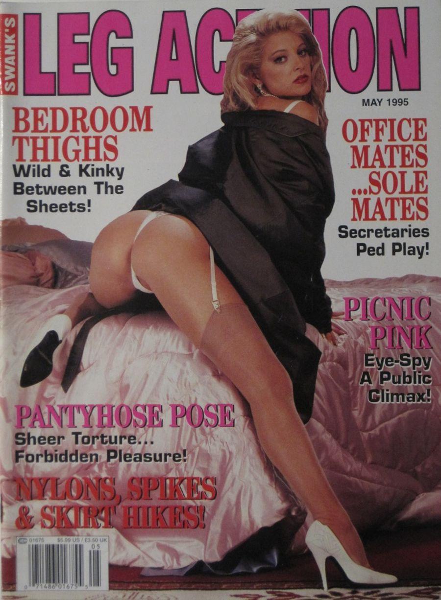 LEG ACTION. MAY 1995. VINTAGE MEN'S MAGAZINE.