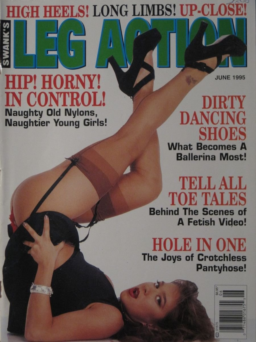 LEG ACTION. JUN. 1995. VINTAGE MEN'S MAGAZINE.