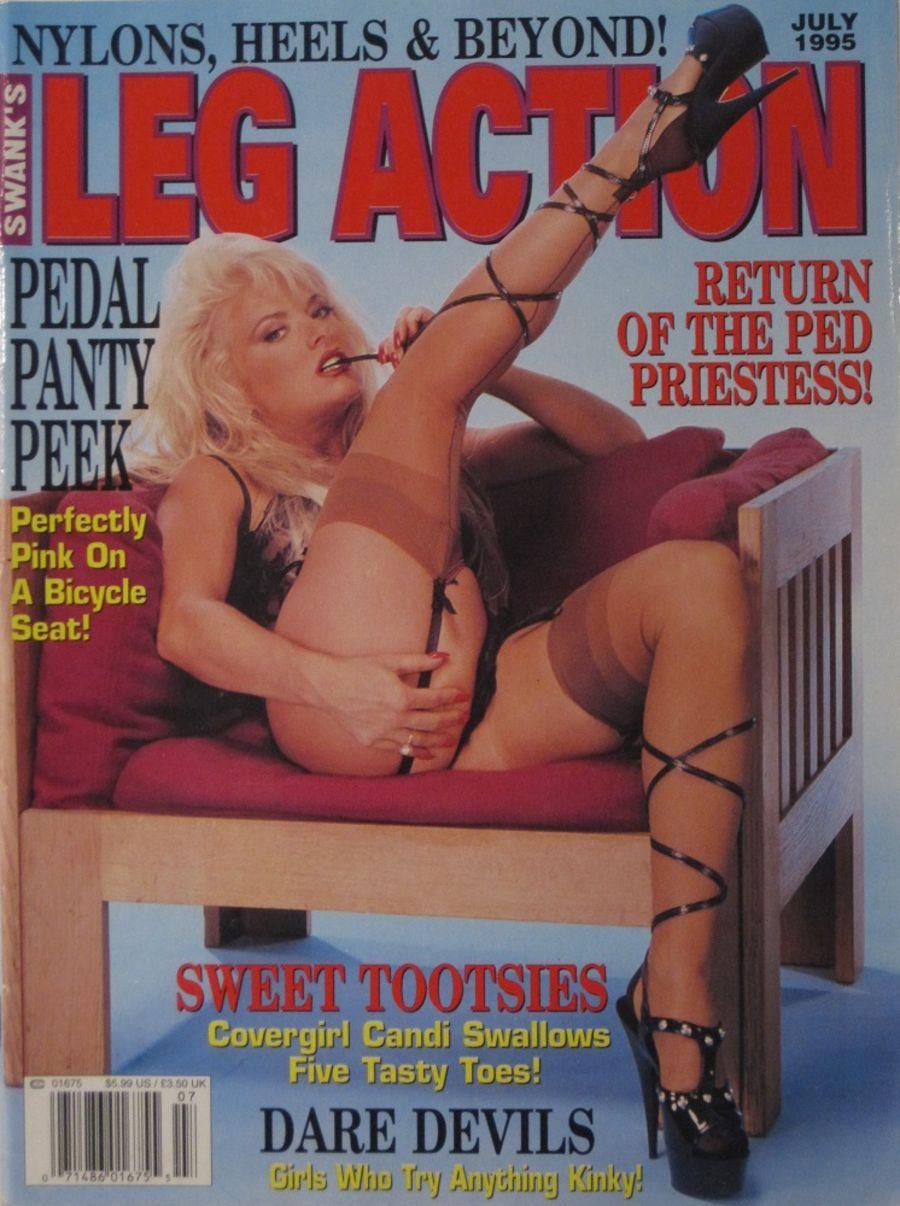 LEG ACTION. JUL. 1995. VINTAGE MEN'S MAGAZINE.