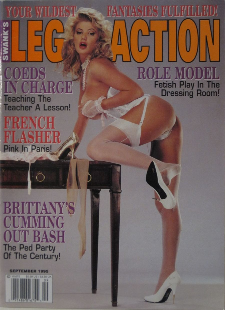LEG ACTION. SEPT. 1995. VINTAGE MEN'S MAGAZINE.
