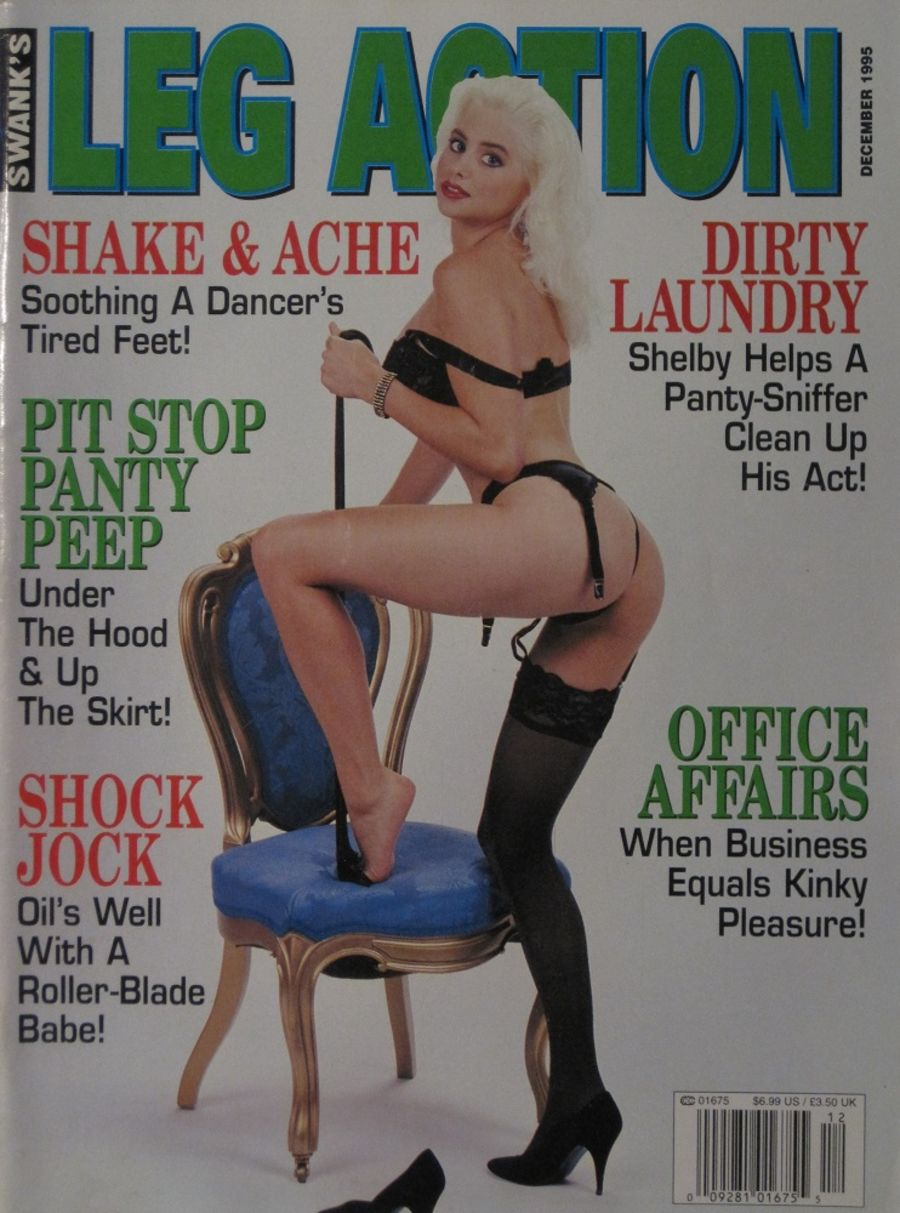 LEG ACTION. DEC. 1995. VINTAGE MEN'S MAGAZINE.