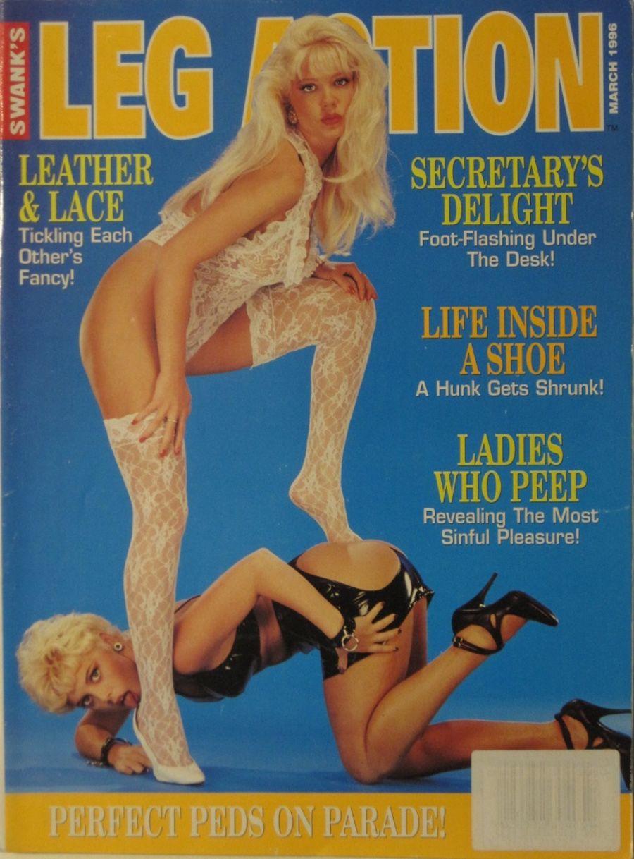 LEG ACTION. MAR. 1996. VINTAGE MEN'S MAGAZINE.