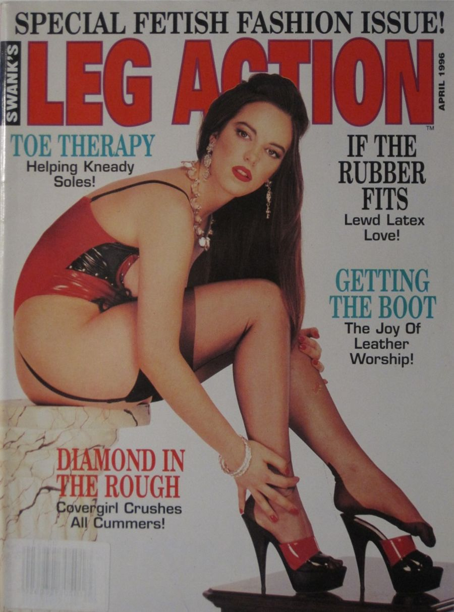 LEG ACTION. APR. 1996. VINTAGE MEN'S MAGAZINE.