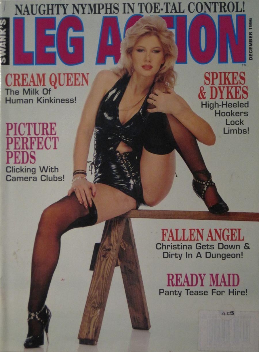 LEG ACTION. DEC. 1996. VINTAGE MEN'S MAGAZINE.