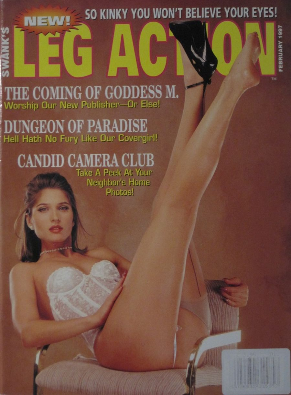 LEG ACTION. FEB. 1997. VINTAGE MEN'S MAGAZINE.
