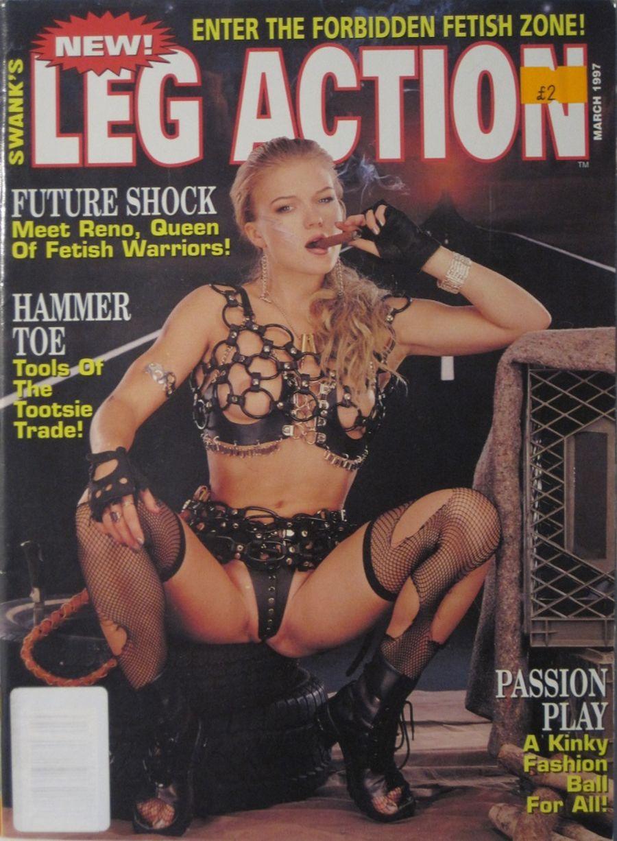 LEG ACTION. MAR. 1997. VINTAGE MEN'S MAGAZINE.