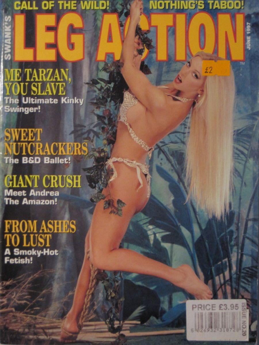 LEG ACTION. JUN. 1997. VINTAGE MEN'S MAGAZINE.