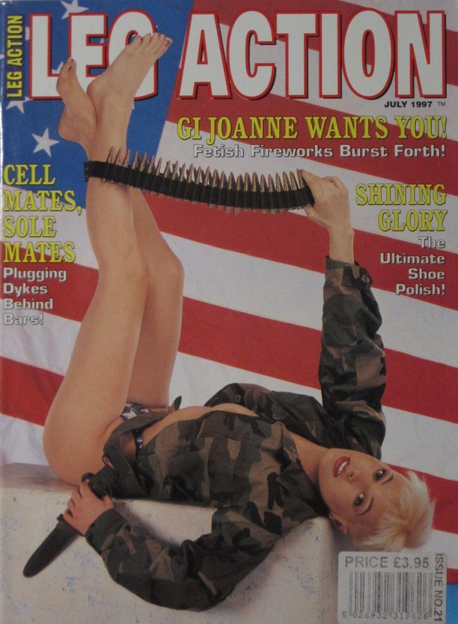 LEG ACTION. JUL. 1997. VINTAGE MEN'S MAGAZINE.