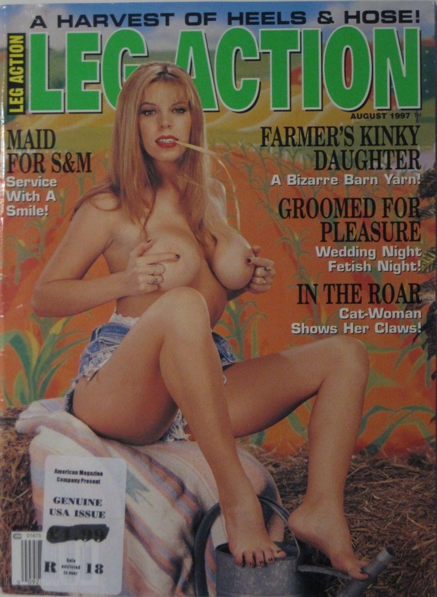 LEG ACTION. AUG. 1997. VINTAGE MEN'S MAGAZINE.