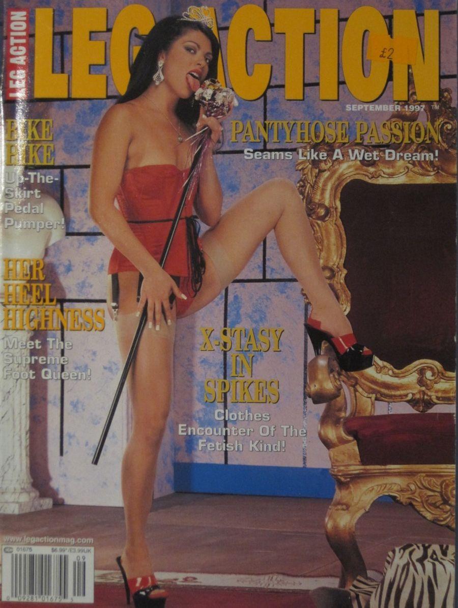 LEG ACTION. SEPT. 1997. VINTAGE MEN'S MAGAZINE.