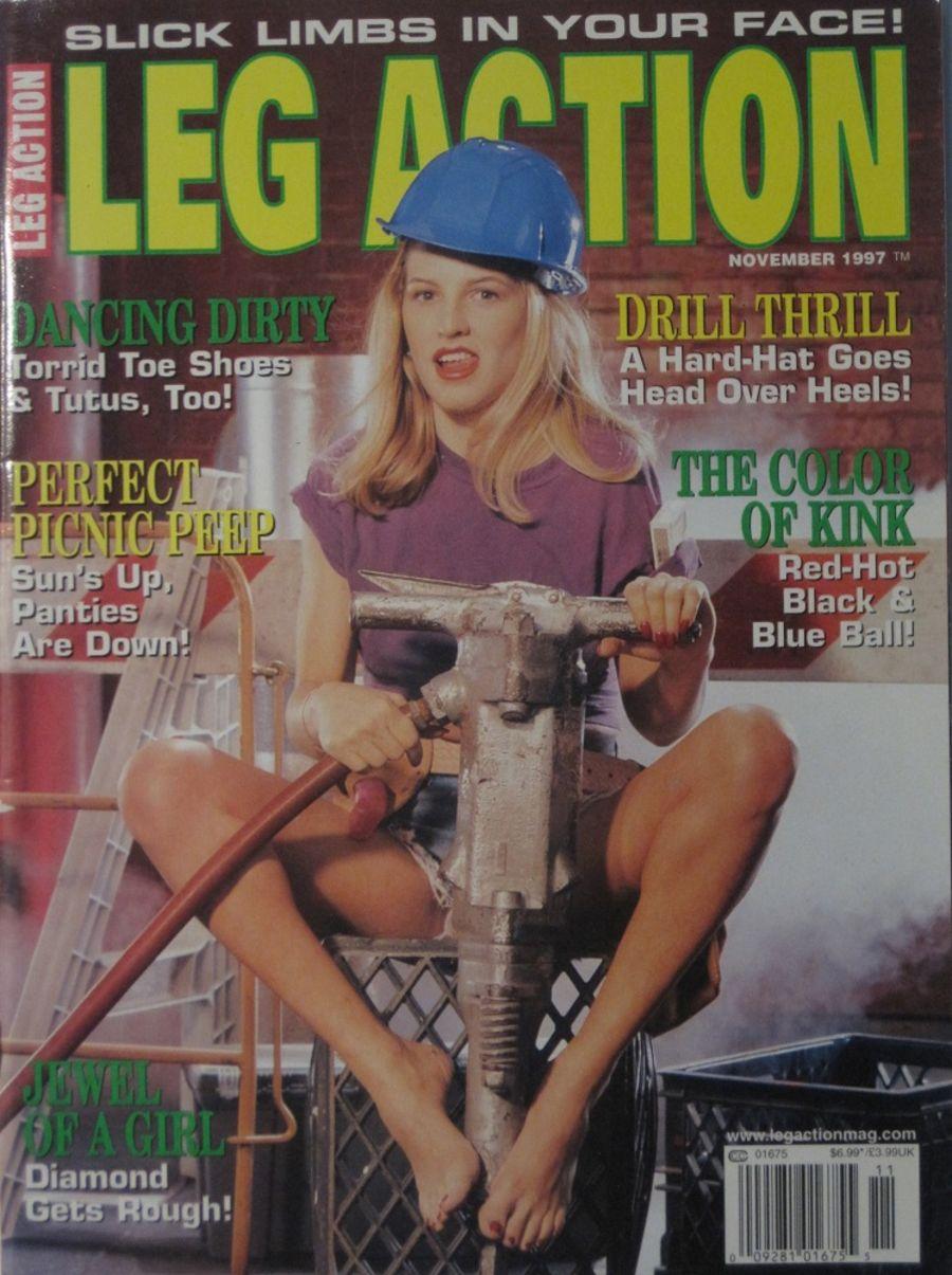 LEG ACTION. NOV. 1997. VINTAGE MEN'S MAGAZINE.