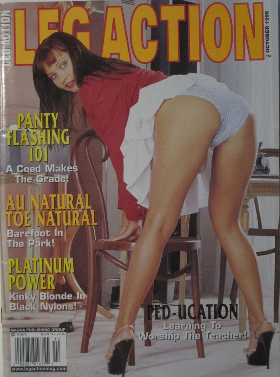 LEG ACTION. OCT. 1998. VINTAGE MEN'S MAGAZINE.