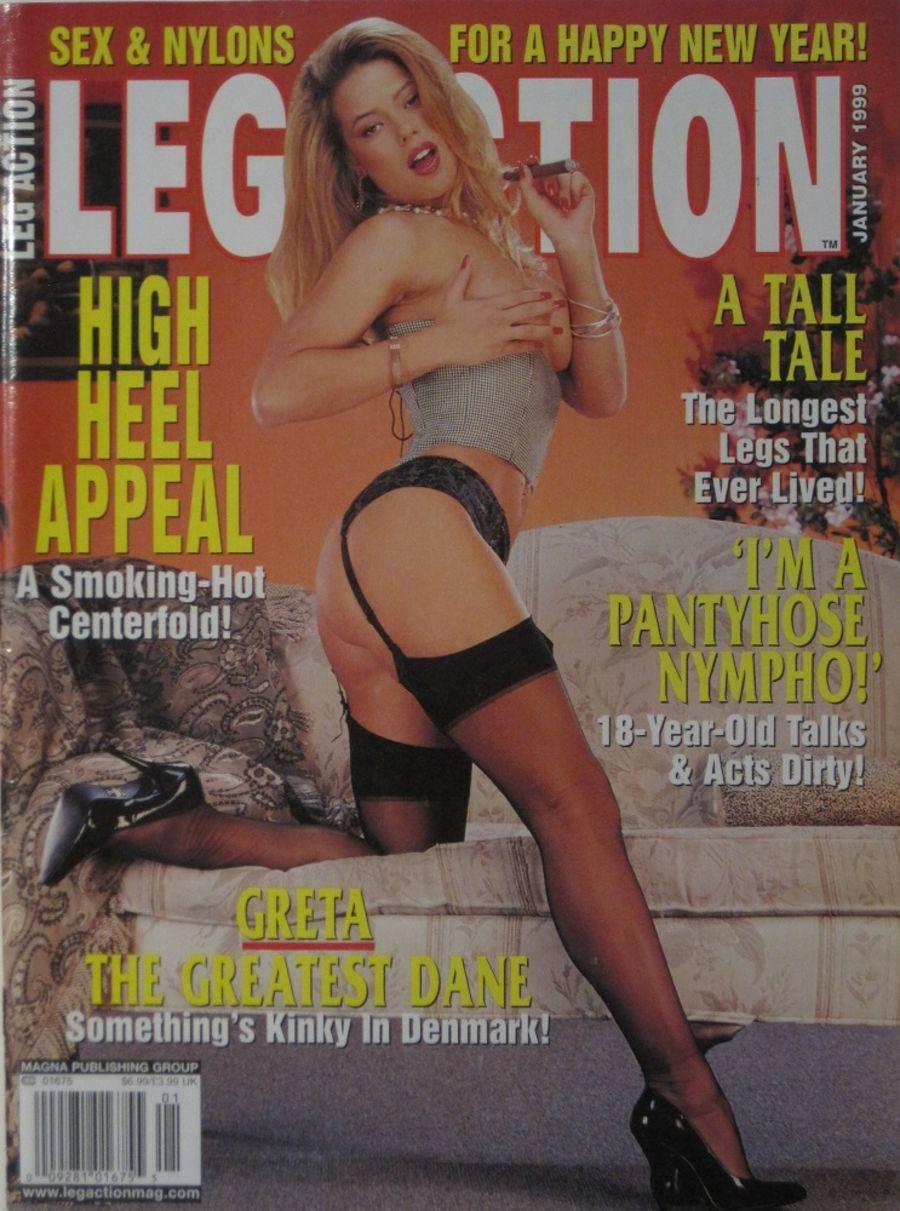 LEG ACTION. JAN. 1999. VINTAGE MEN'S MAGAZINE.