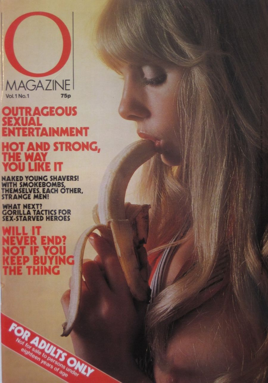 O MAGAZINE. VOL. 1 NO. 1. 1977 VINTAGE ADULT MAGAZINE.