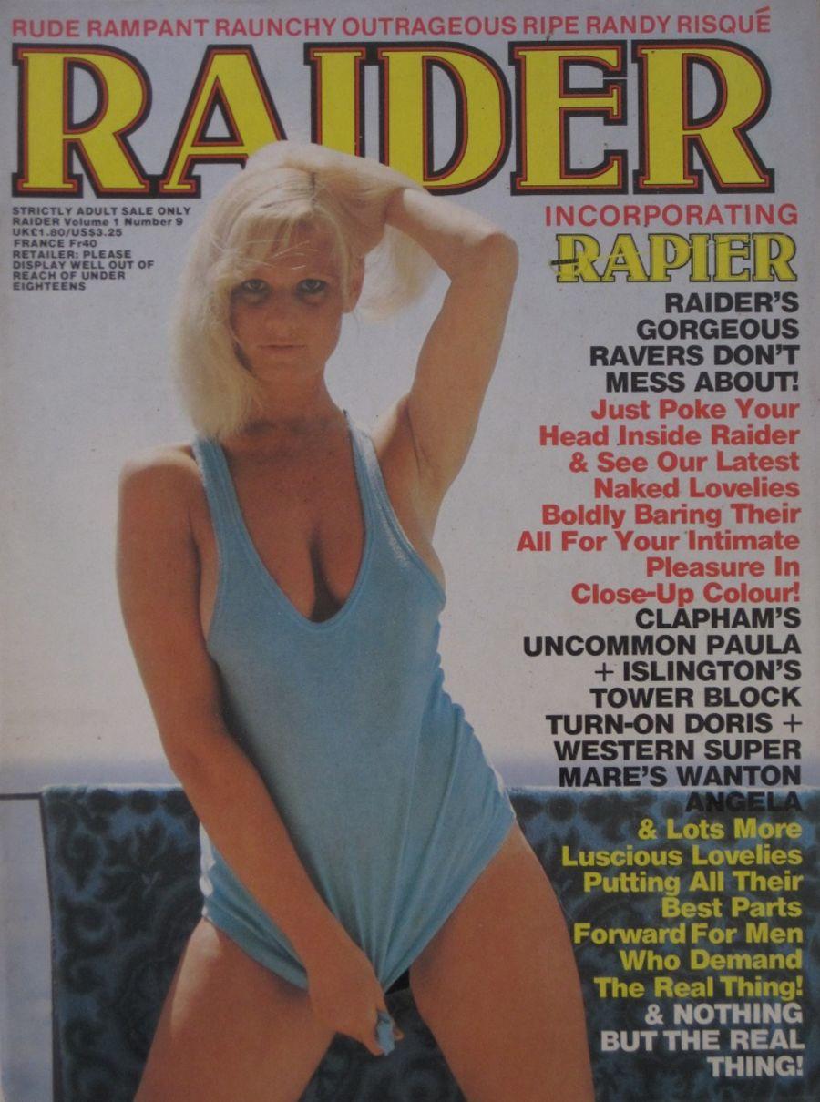 RAIDER. VOL. 1 NO. 9.  VINTAGE ADULT MAGAZINE.