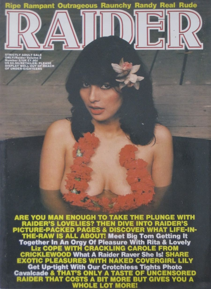 RAIDER. VOL. 2  NO. 2.  VINTAGE ADULT MAGAZINE.