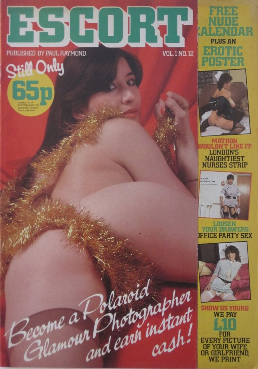 ESCORT.  VOL. 1  NO. 12. VINTAGE ADULT MAGAZINE.