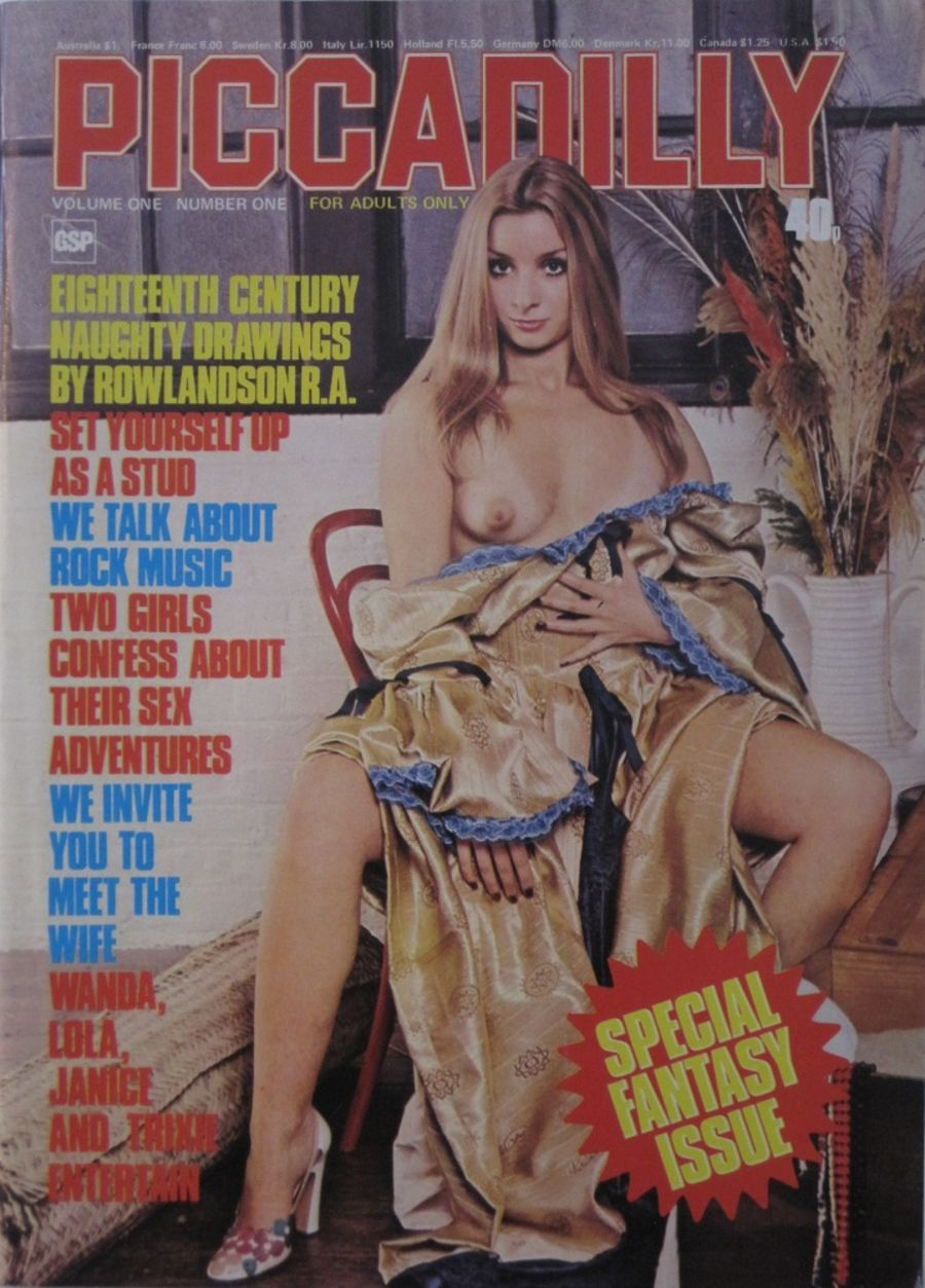 PICCADILLY. VOL. 1 NO. 1. 1976 VINTAGE ADULT MAGAZINE.