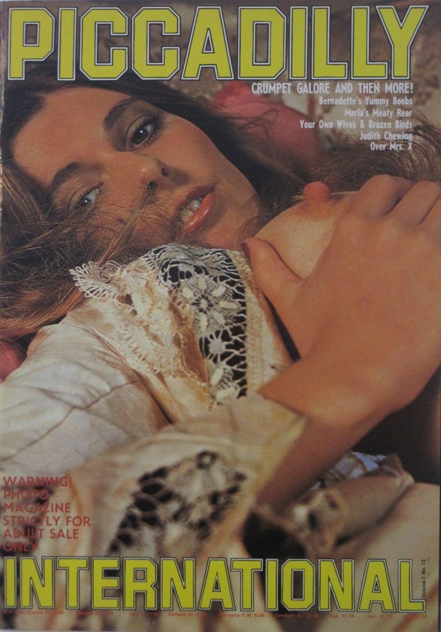 PICCADILLY INTERNATIONAL. VOL. 1 NO. 12. 1977 VINTAGE ADULT MAGAZINE.